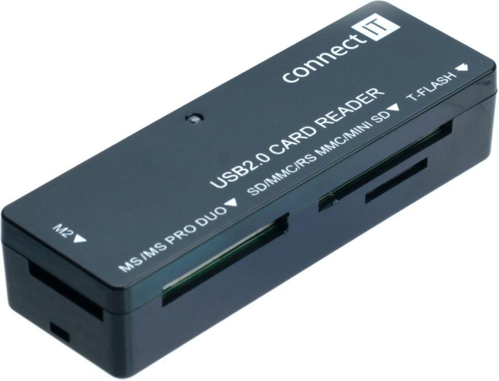 Čítačky pamäťových kariet Čítačka pamäťových kariet Connect IT CI-56