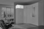Clack - Nadstavec na skriňu, 2x dvere (biela, biela)