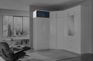 Clack - Nadstavec na skriňu, 2x dvere (čierna, biela)