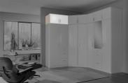 Clack - Nadstavec na skriňu, 2x dvere (dub, biela) - II. akosť