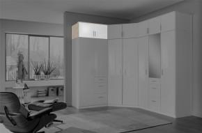 Clack - Nadstavec na skriňu, 2x dvere (dub, biela)