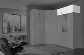 Clack - Nadstavec na skriňu, 3x dvere (biela, biela)