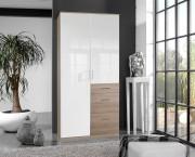 Clack - Skriňa, 2x dvere (dub, biela)