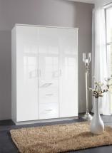 Clack - Skriňa, 3x dvere (biela, biela)