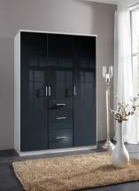 Clack - Skriňa, 3x dvere (čierna, biela)