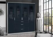 Clack - Skriňa, 4x dvere (čierna, biela)