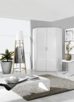 Clack - Skriňa rohová, 2x dvere (biela, biela)