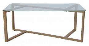 Cleo - Konferenčný stolík, obdĺžnik (sklo, kov)