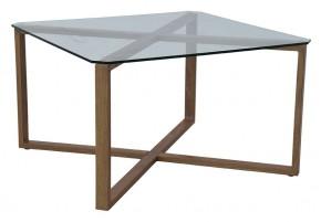 Cleo - Konferenčný stolík, štvorec (sklo, kov) - II. akosť