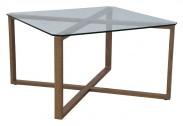Cleo - Konferenčný stolík, štvorec (sklo, kov)