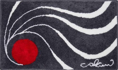 Colani 18 - Polkruhová predložka 50x80 cm (antracitová)