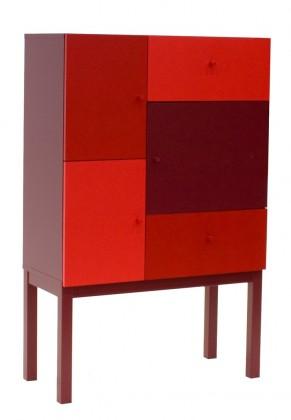 Color 1972-828(červená mix)