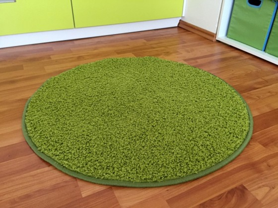 Color Shaggy - Koberec, 100 cm (zelená)