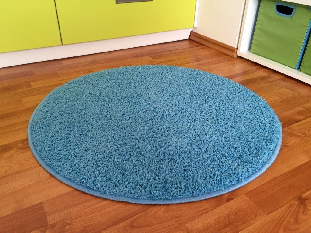 Color Shaggy - Koberec, 120 cm (svetlo modrá)