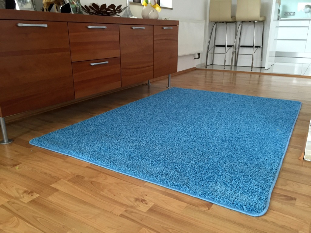 Color Shaggy - Koberec, 140x200 cm (svetlo modrá)