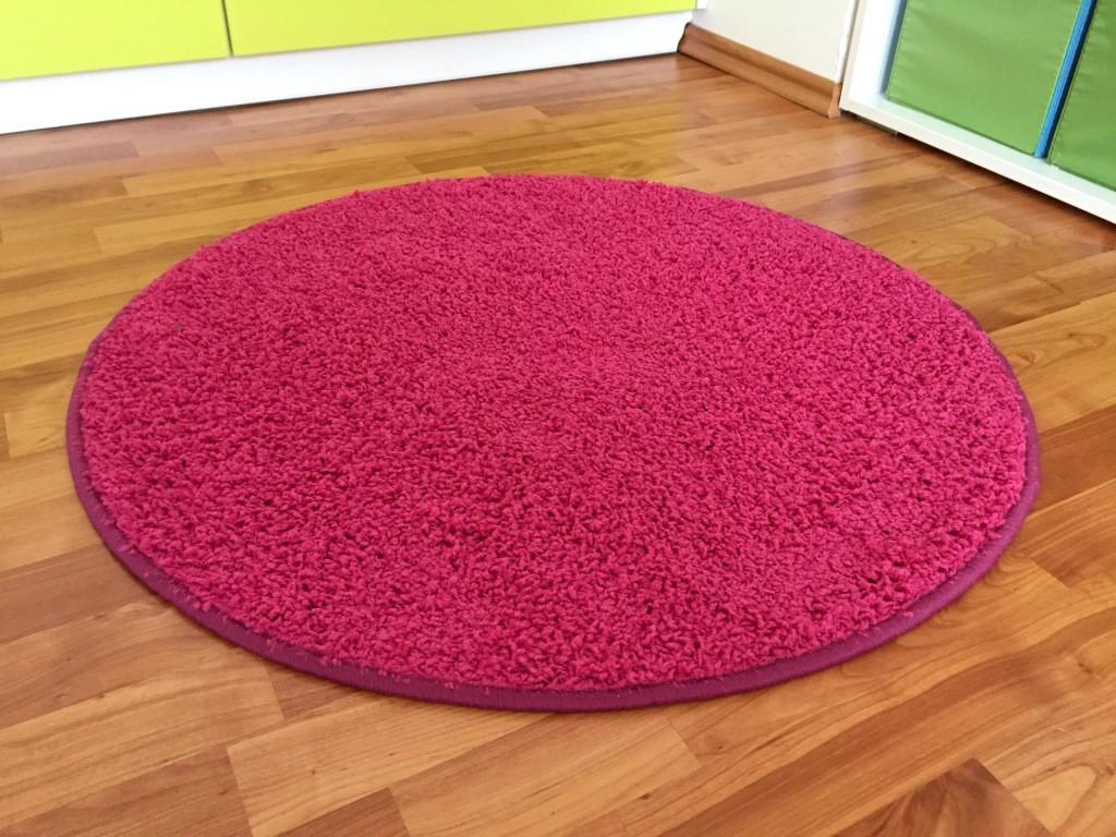 Color Shaggy - Koberec, 160 cm (růžová)