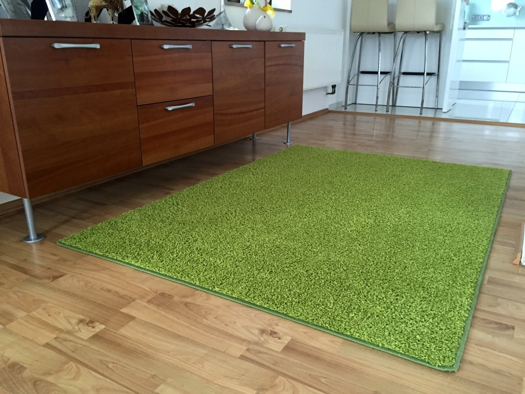 Color Shaggy - Koberec, 160x240 cm (zelená)