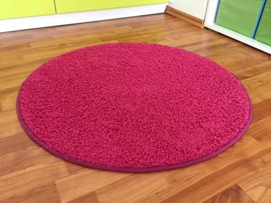 Color Shaggy - Koberec, 200 cm (růžová)