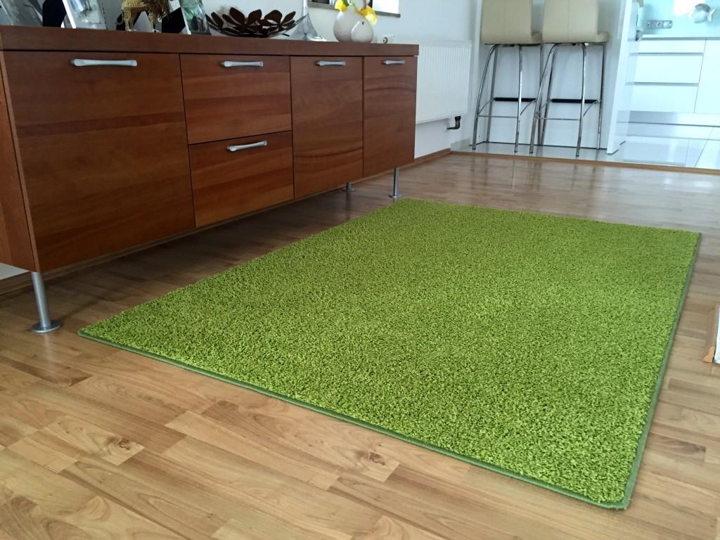 Color Shaggy - Koberec, 200x300 cm (zelená)