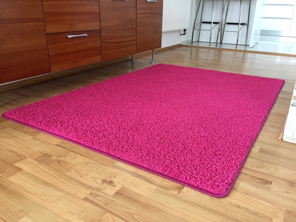 Color Shaggy - Koberec, 80x150 cm (růžová)