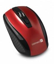 Connect IT bezdrátová optická myš, červená (CI-1224)