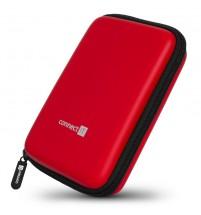 """Connect IT CFF5000RD Pevné ochranné púzdro na 2,5"""" HDD, červené"""
