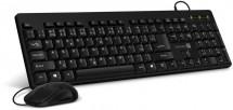 CONNECT IT Combo káblová čierna klávesnica + myš, CZ + SK layout