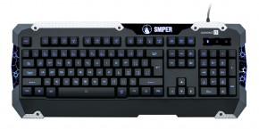 Connect IT GK5500 Sniper Keyboard USB CZ, čierna