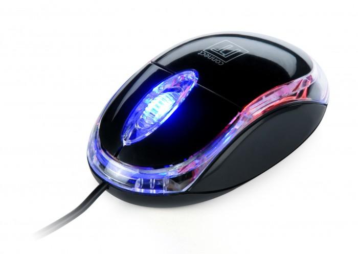 CONNECT IT optická myš podsvietená USB, čierna