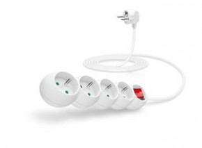 Connect IT Predlžovací kábel 230 V, 4 zásuvky, 3 m, s vypínačom (biely)