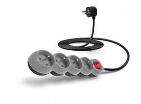 Connect IT prodlužovací kabel 4 zásuvky 3 m vypínač šedý