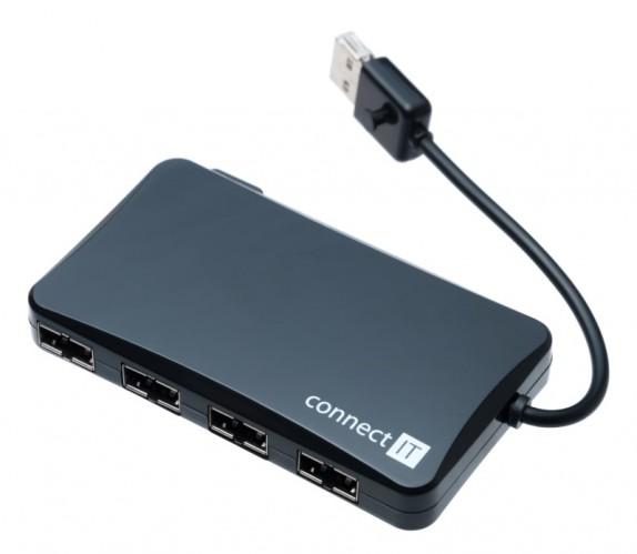 Connect IT USB 2.0 hub so 4 obojstrannými porty REVERSE