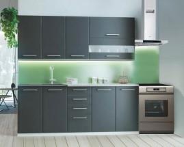 Cora - Kuchynský blok 200 cm (sivá, biela, svetlý granit)