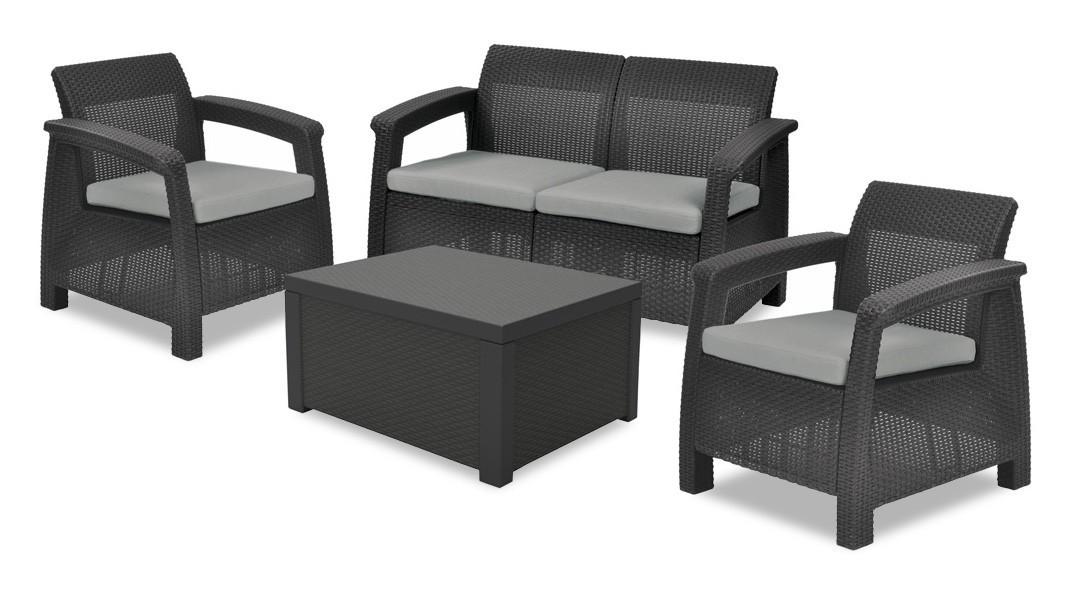 Corfu II - Set Box (čierna, sivá)
