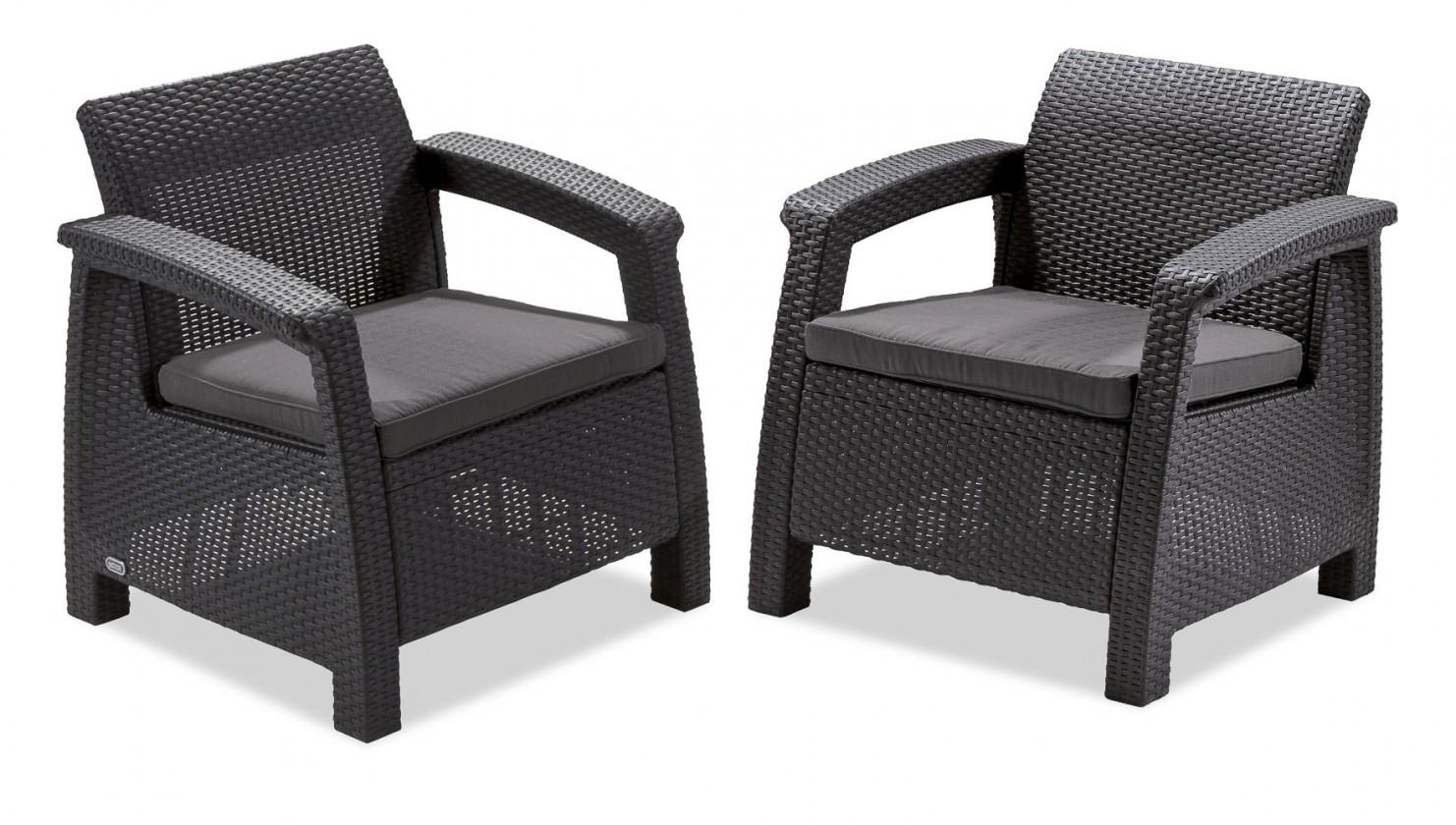 Corfu II - Set Duo (čierna, sivá)