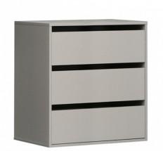 Corsica - Zásuvkový blok, 3x zásuvka do skříně (sivá)
