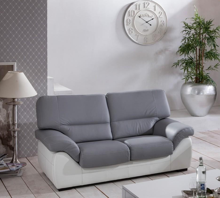 Cortina-dvojsedák (light grey-látka/white madras leather-korpus)