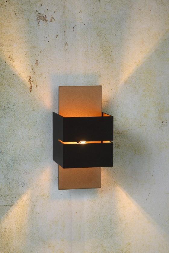 Cubo - nástenné osvetlenie, 40W, G9 (čierna)