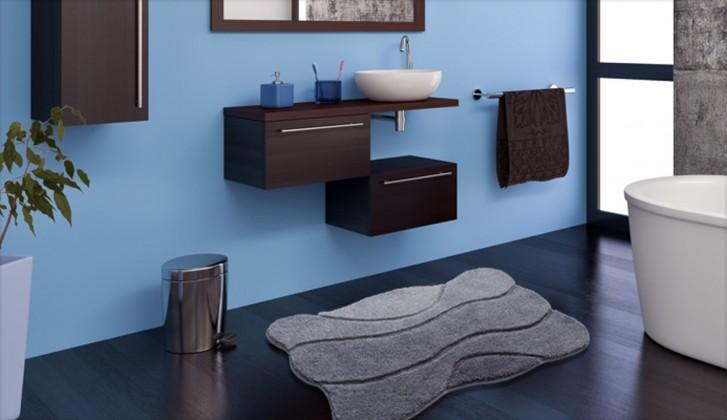 Curts - Kúpeľňová predložka 60x100 cm (sivá)