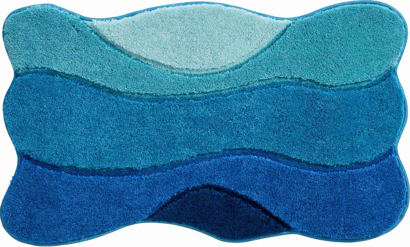 Curts - Kúpeľňová predložka 70x120 cm (modro-tyrkysová)