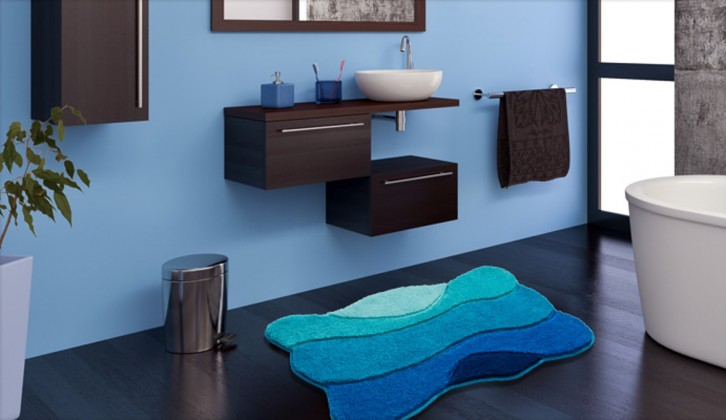 Curts - Kúpeľňová predložka 80x140 cm (modrá)