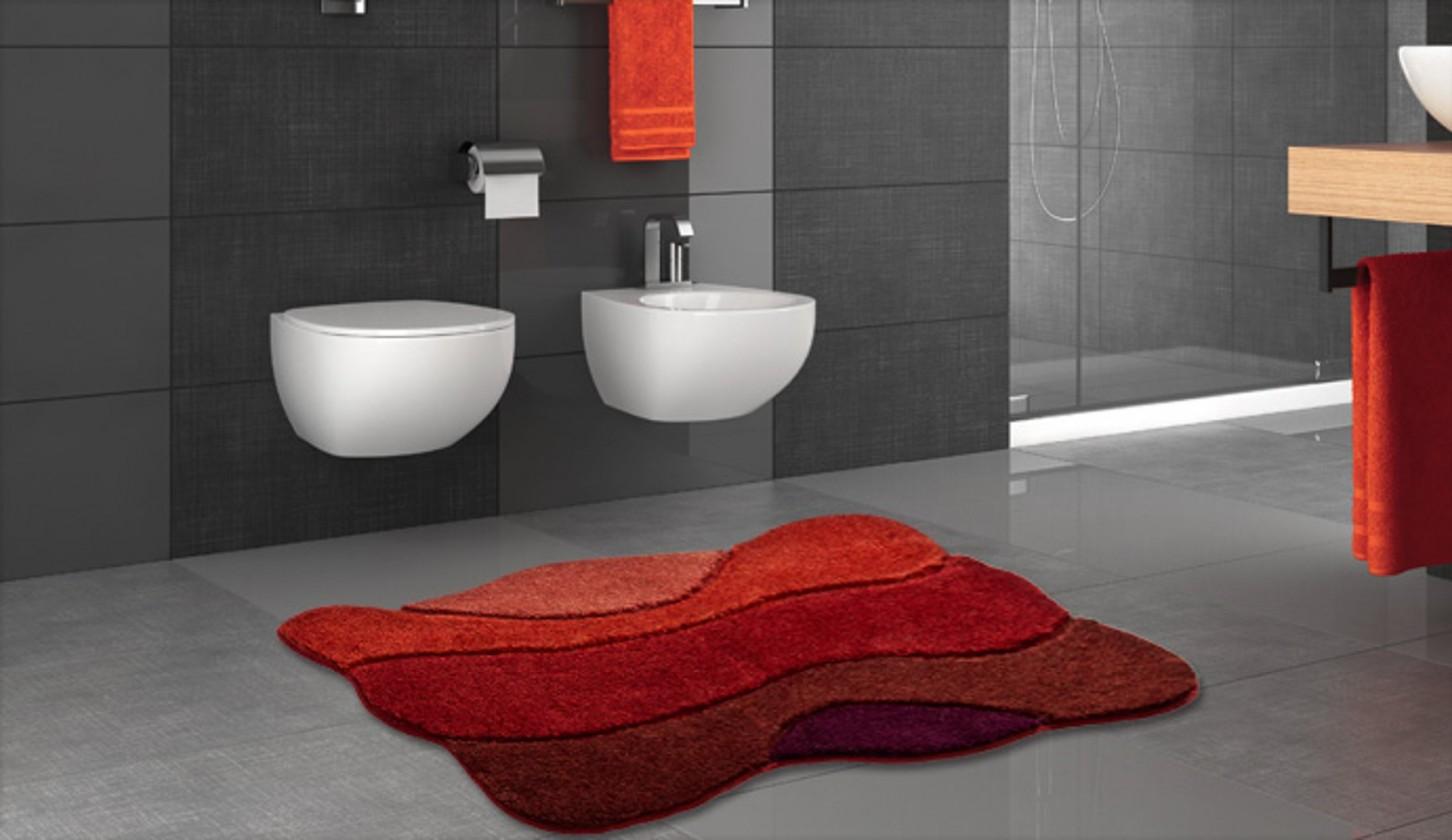 Curts - Kúpeľňová predložka 80x140 cm (teplá červená)