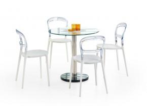 Cyryl - Jedálenský stôl 80 cm (číra, strieborná)