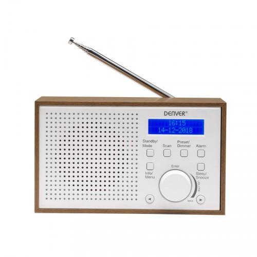 DAB+ rádio Denver DAB-46, biele