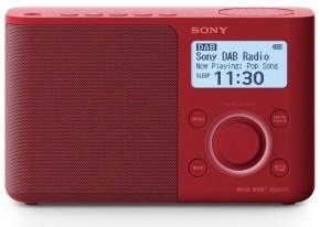 DAB+ rádio Sony XDR-S61DR, červené