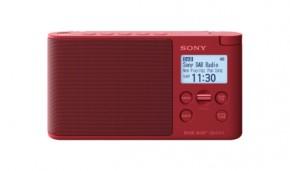 DAB+ rádio Sony XDRS-41DR, červené