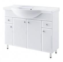 Dallas - Skrinka s umývadlom 105cm (biela)