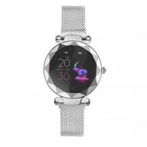 Dámske chytré hodinky IMMAX SW12, magnetický remienok,strieborná