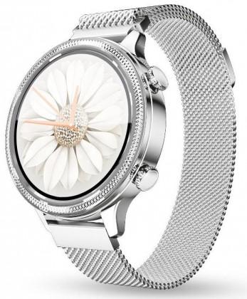 Dámske smart hodinky Dámske smart hodinky Aligator Watch Lady, 2 remienky,strieborná