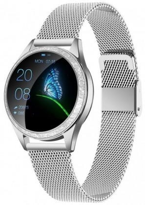 Dámske smart hodinky Dámske smart hodinky Armodd Candywatch Crystal, strieborná